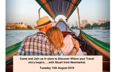 Come and join us with Newmarket Holidays on Tuesday 13th August…