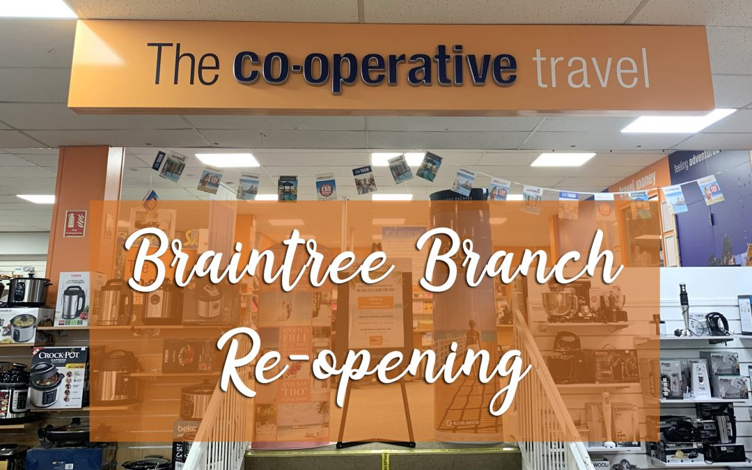 Braintree branch to re-open on Monday 7th June